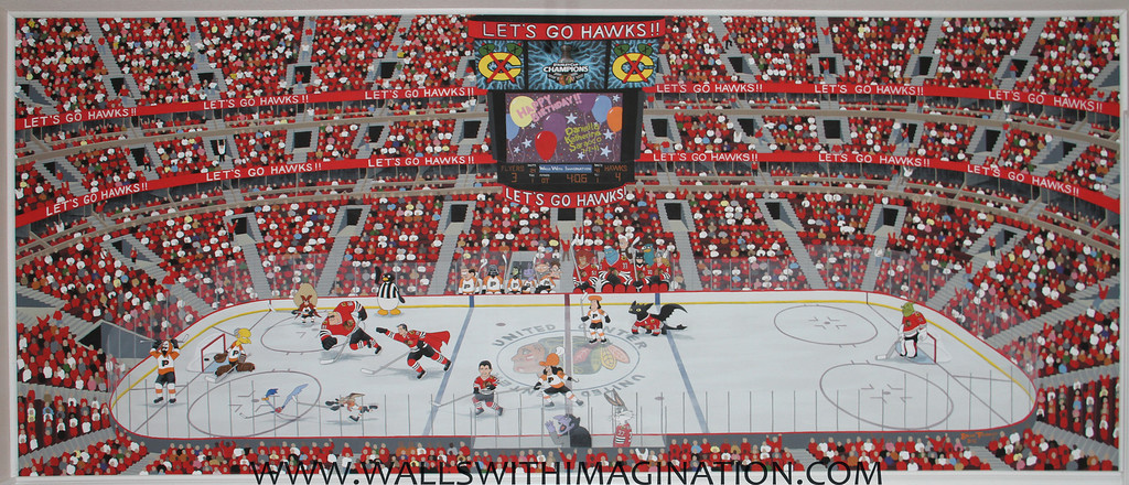 Blackhawks Mural